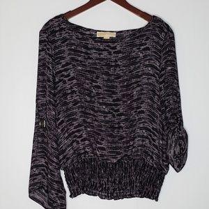 Michael Kors sheer blouse purple/gray size large